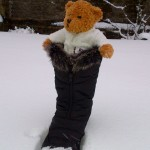 Evie Braves The Snow - Mendips 2013