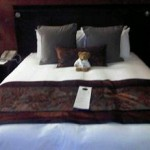 Cynthia's Bear - gorgeous bed at Hilton Glasgow