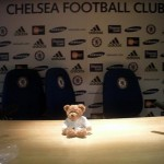 Facing the press at Chelsea