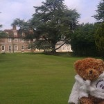 Evie explores the 54 acre grounds