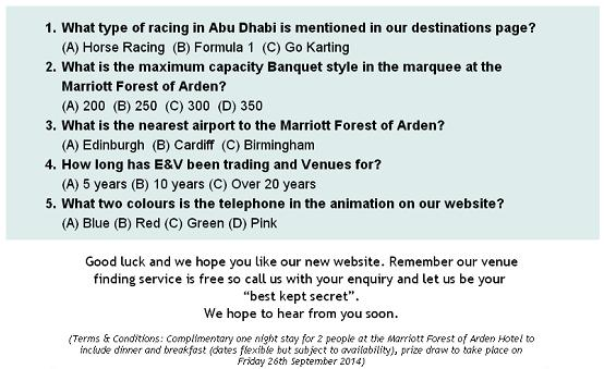 competition questions sept 2014